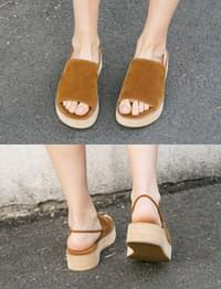 Soft suede wedge sandal_M (size : 230,235,240,245,250)