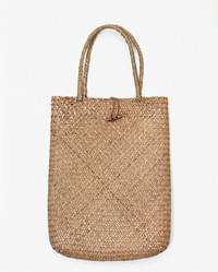 summer rectangle straw bag