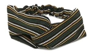 dotted line hair turban (3 colors)