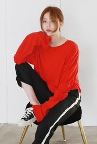 Long sleeve round-neck crop tee