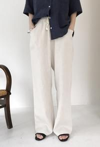 Linen banding pants (2color)