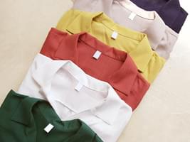 6 COLOR LINEN COLLAR 1/2 SHIRTS