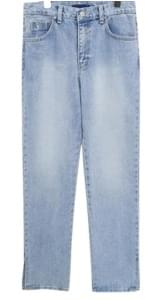 SEMI WIDE SLIT DENIM PANTS