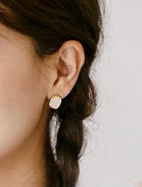 Crack mini earring_H (size : one)