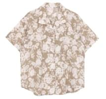 Floral collar shirts (2color)