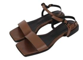 Square open toe sandals (2color)