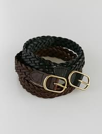 twist leather belt