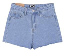 Line-up denim shorts