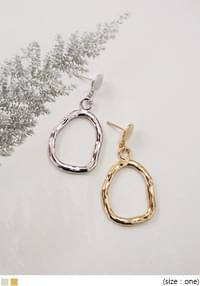 DRAWING CIRCLE BOLD EARRING