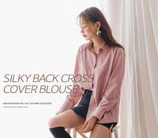 SILKY BACK CROSS COVER BLOUSE