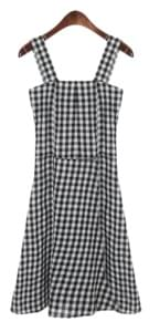 smoke check sleeveless dress