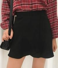 Lap flare skirt pants
