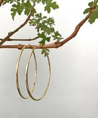 Simple big ring earrings