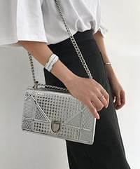 Crush Chain Square Bag