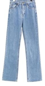LONG SEMI BOOTS CUT DENIM PANTS