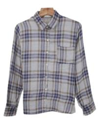 Red-brown color check shirt