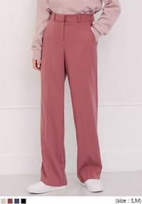 High Waist Straight-Cut Slacks