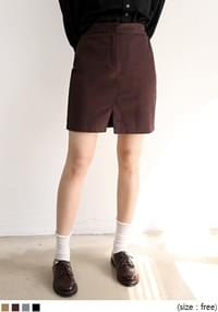 [SKIRT] MODERN SLIT BANDING SKIRT