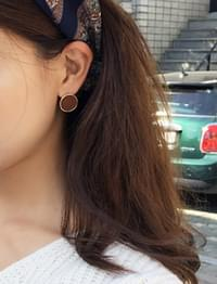 Candy circle earring_M (size : one)