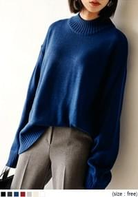 [TOP] LUCY HALF NECK 7 COLOR KNIT