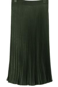 Glam pleats long skirt_S (size : free)