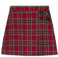LONELY CLUBBuckled Tartan Check Mini Skirt
