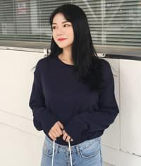 Extended Sleeve Basic Knit Top