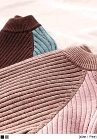 [TOP] SOFT COLORING HALF NECK KNIT