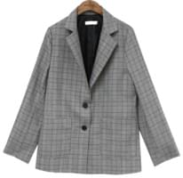 [OUTER] VELY CHECK SET STANDARD JACKET