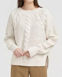 point twist slit knit