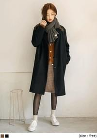 [OUTER] BURNING WOOL SINGLE COAT