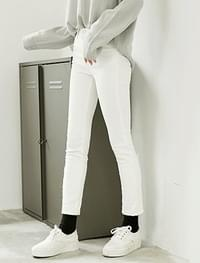 roll-up cotton pants