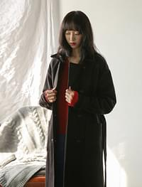 wool loose fit coat