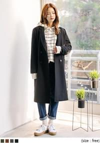 [OUTER] WOOL DOUDLE BUTTON COAT