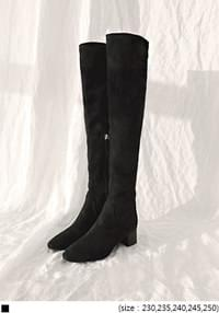 [SHOES] SLIM SUEDE HIGH BOOTS