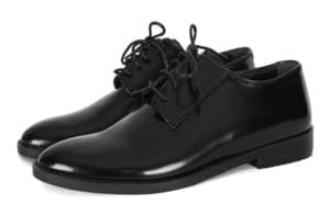 Black mannish loafer