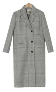 check slim fit coat