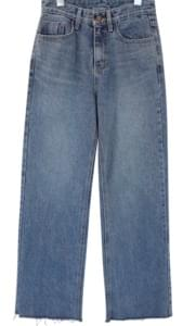 HIGH WAIST LONG DENIM PANTS