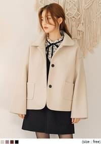 [OUTER] BLEN COLLAR SHORT COAT
