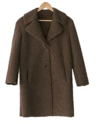 big collar boucle coat