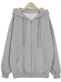Cocoa fleece hood zip-up_M (size : free)