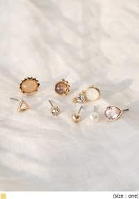 [JEWELRY] JUREN 8 TYPE EARRING SET