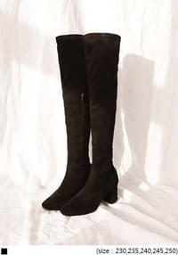 Faux Suede High Boots