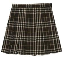 london check pleats mini skirt