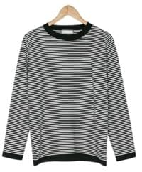 durable stripe knit tee