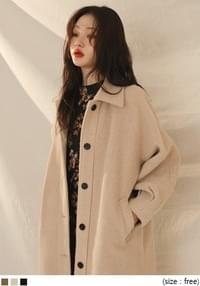 [OUTER] WOOL PINTUCK SLEEVE COAT