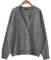 5 COLOR BASIC V NECK CARDIGAN