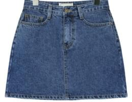 HIGH A LINE DENIM MINI SKIRT