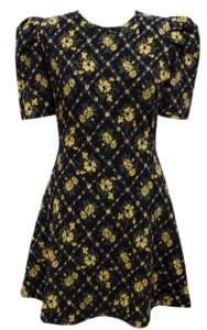 YELLOW FLOWER JACQUARD OPSWITH CELEBRITY _ Jenny, Sana wear