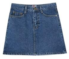 Daily A-line Denim Mini Skirt